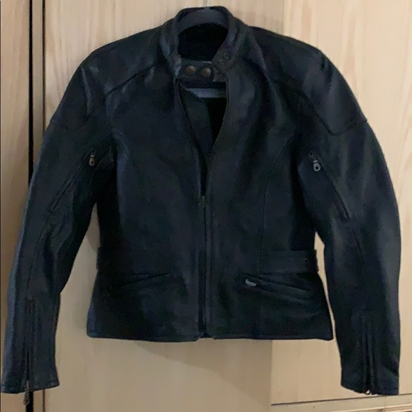 the Triple Connection Jackets & Blazers - Triumph Black Leather Motorcycle Jacket